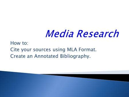 How to write an Annotated Bibliography - Tips for